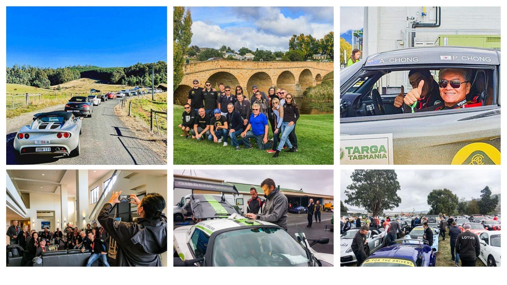 Lotus Cars Australia supporting drivers at Targa Tasmania