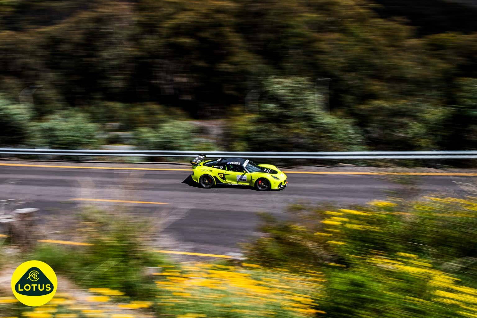 Lotus Exige Sport on Targa Tarmac Rally Stage in Australia