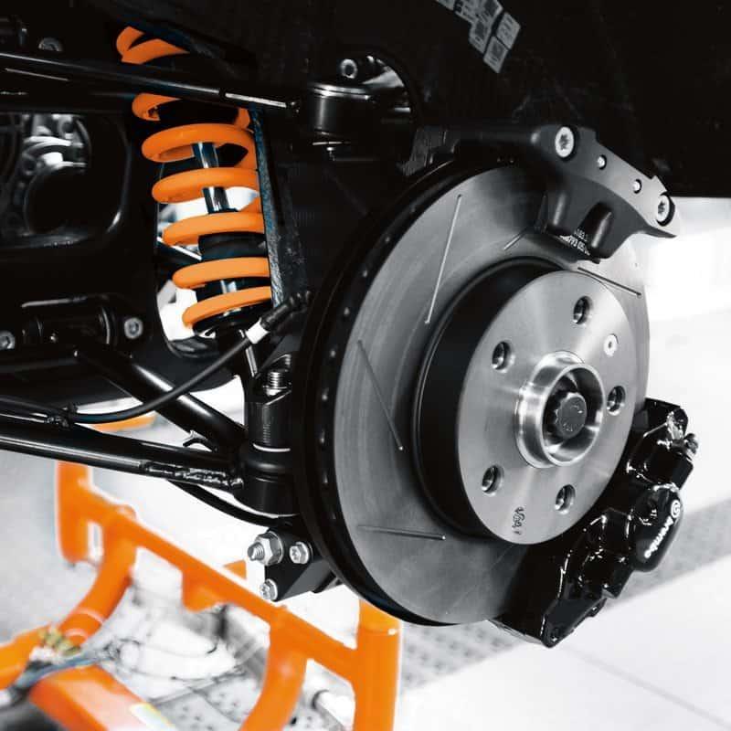 KTM X BOW sports car brakes