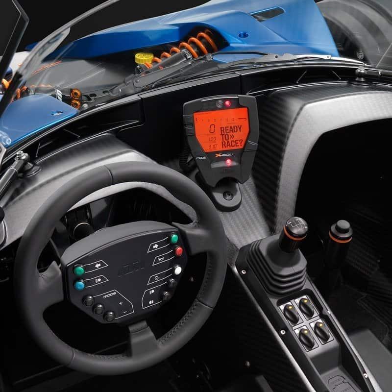 KTM X BOW sports car cockpit