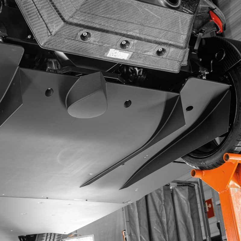 KTM X BOW sports car diffuser