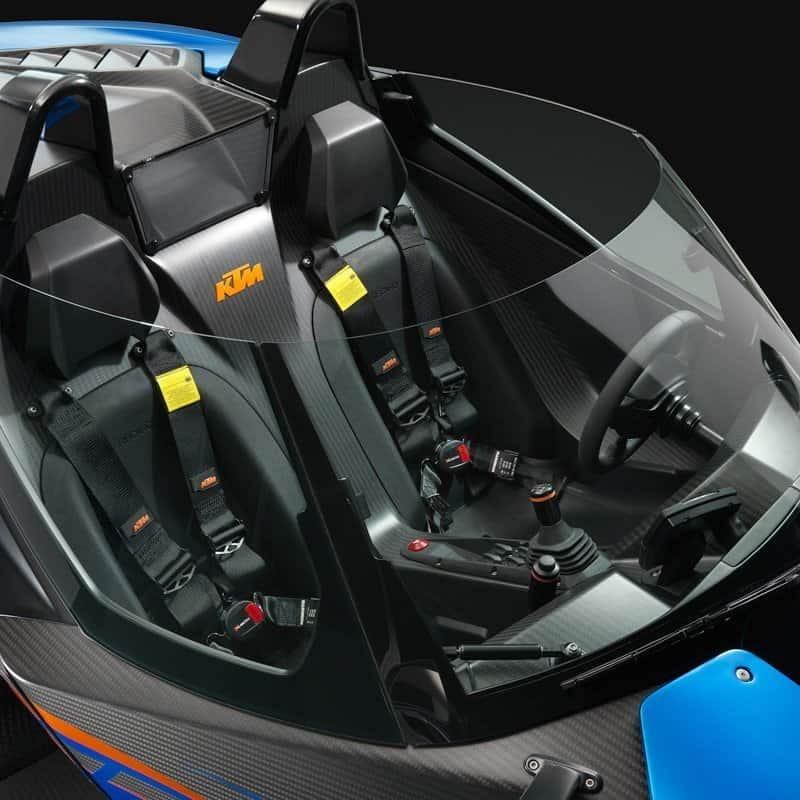 KTM X BOW sports car windscreen