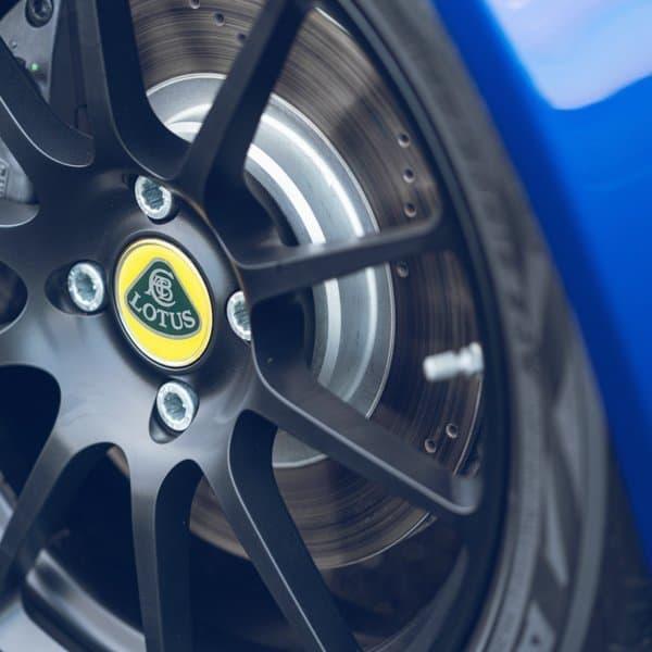 Lotus Elise sports brakes and light weight wheel rims