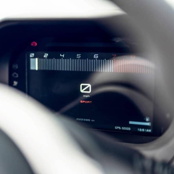 Lotus Elise sports car Final Edition with digital dashboard