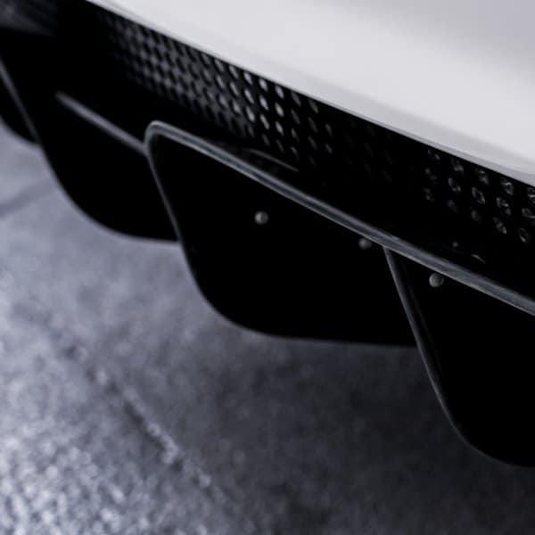 Lotus Elise sports car rear diffuser for aerodynamics