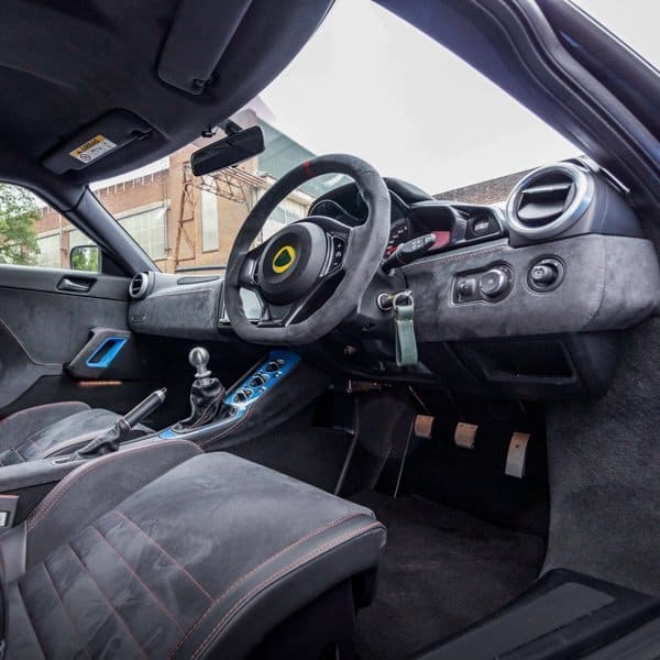 Lotus Evora GT easy to get into with comfortable seats