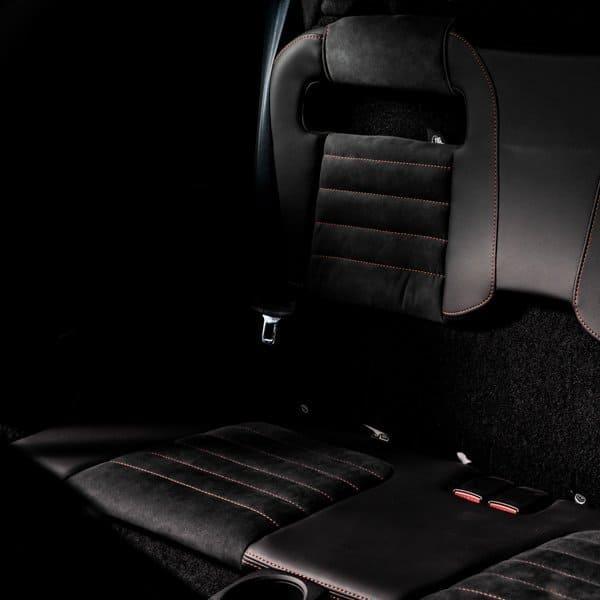 Lotus Evora rear seats and storage area