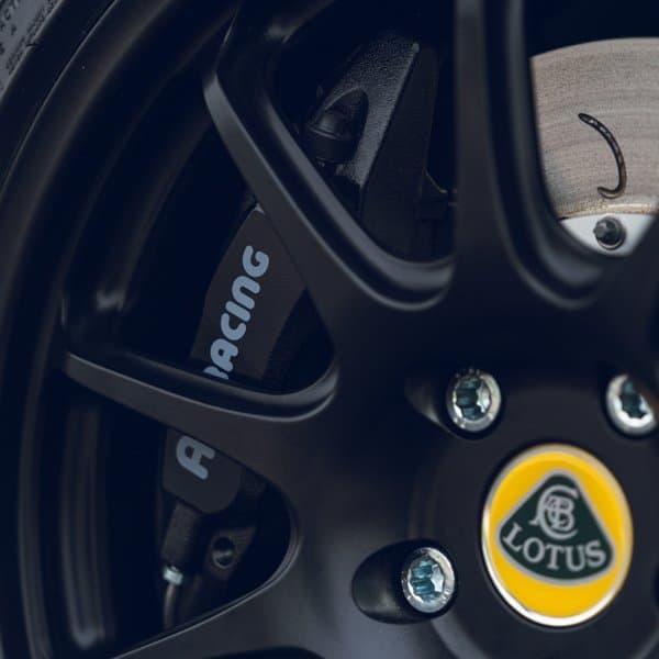 Lotus Exige brake package using AP Racing equipment