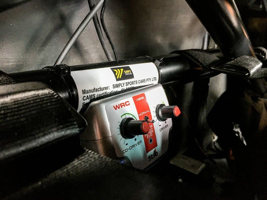 Simply Sports Cars motorsport installations of communication equipment for Targa Rally