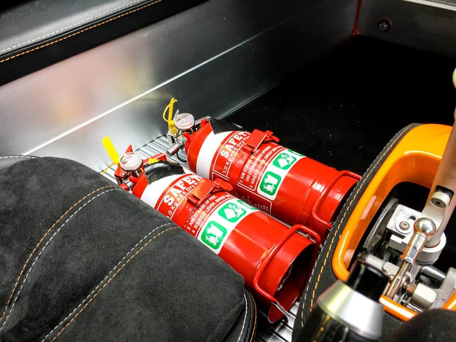 Simply Sports Cars motorsport installations of fire extinguisher for racing