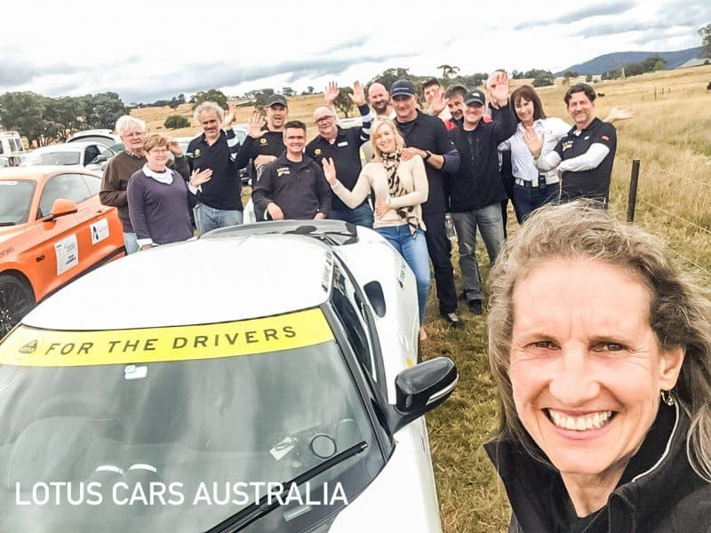 Lotus Sports Cars at Targa High Country Tarmac Rally February Tour Group Participants