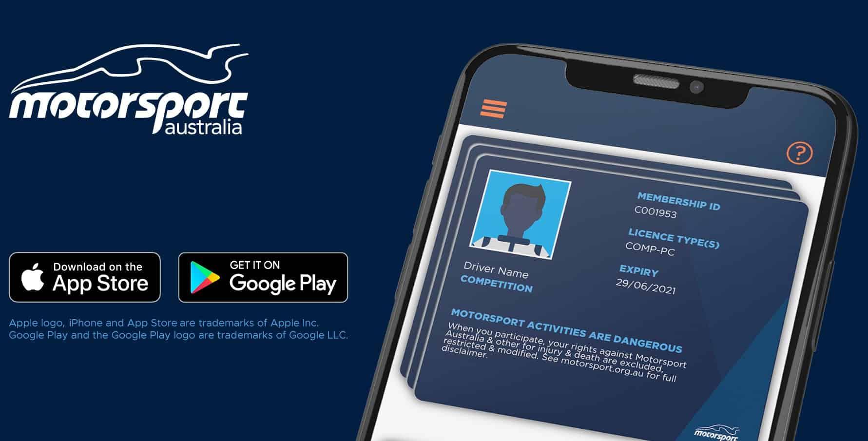 Motorsport Australia App for Track Days