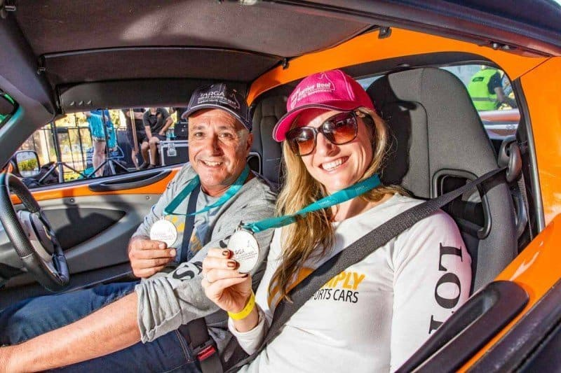 What is the best car for a Targa Rally in Australia with husband and wife using a Lotus sports car of
