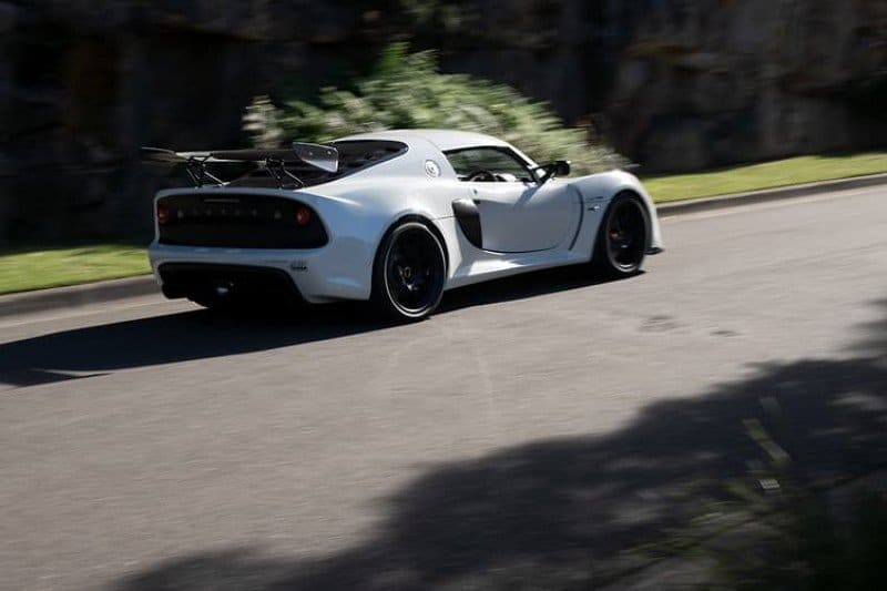White Lotus Exige Sport Targa Edition two door sports car coupe with supercharged engine